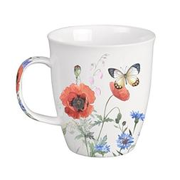SVIV Curve New Bone China Coffee or Tea Mug, 16oz