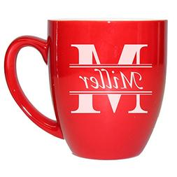 Custom Engraved Ceramic Latte Mug - Personalized Coffee Cup