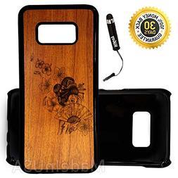 Custom Galaxy S8 Case  Edge-to-Edge Plastic Black Cover Ultr