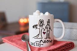 Customizable Mug: Your Chosen Last Name and Wedding Year und
