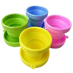 Travel Collapsible Cup | Cute Folding Colorful High Quality