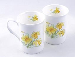 Daffodil Chintz - Pair Fine English Bone China Mugs - Adderl