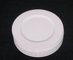 Roscher Daisy  bone china SALAD PLATES - WHITE - S/8 New