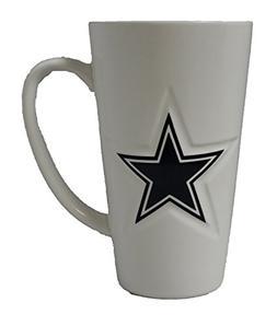 Boelter Dallas Cowboys 16 oz White Ceramic Latte Coffee Mug