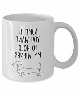 Daschund Mug - Coffee cup - Wiener Mugs - Daschund gift idea