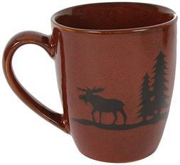 DEI Woodland Moose Stoneware Mug, 12-Ounce