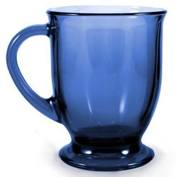 Anchor Hocking 16-Ounce Denim Blue Cafe Mug - 6 Pack