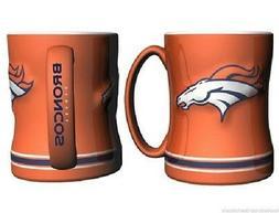 Denver Broncos Coffee Mug Relief Sculpted Team Color Logo -