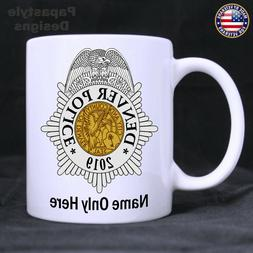 Denver Police Officer Personalized 11oz Coffee Mug. Made in