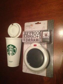 Desktop Coffee/Tea Mug Warmer - Candle and Starbucks Reusabl