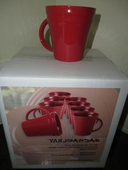Rachael Ray Dinnerware Double Ridge Coffee Mug SET OF 8 Pc R