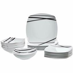 AmazonBasics 18-Piece Dinnerware Set - Modern Beams, Service