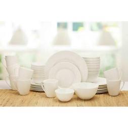 Mikasa Dinnerware Set Huntington 40-Piece White Serves 8  Bo