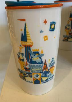 Disney Parks Magic Kingdom Starbucks Ceramic Travel Tumbler