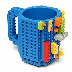 DIY Build-on Brick Puzzle Mug Cup Lego Block Kid Toy Coffee