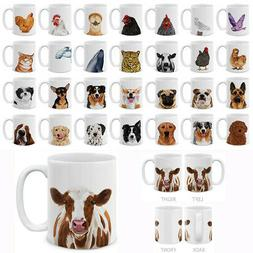 Dog Cat Design 11 OZ Mug Creative Ceramic Coffee Water Porce