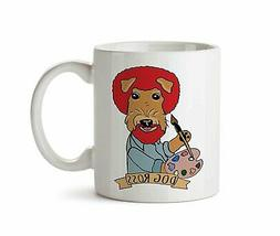 Dog Ross Funny Artist Painter Airedale Terrier Coffee Tea Mu