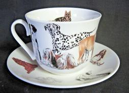 DOGS GALORE, FINE BONE CHINA  BREAKFAST CUP SAUCER, ROY KIRK