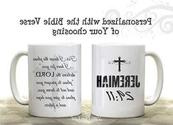 Double Sided Custom Coffee Mug made with the Bible Verse of