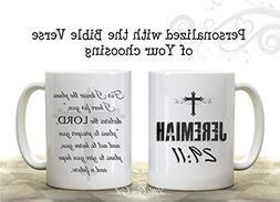 Double Sided Custom Coffee Mug made with the Bible Verse of