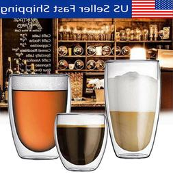 Double Wall Glassware Glass Cup Wine Hot Cold Coffee Mug Kit