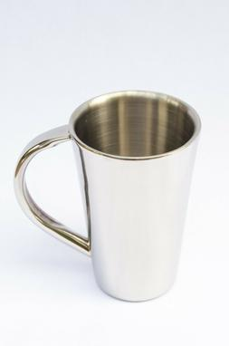 Double Wall Stainless Steel Coffee Mug / Taper-side or Strai
