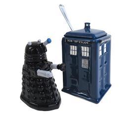 Doctor Who Dalek & TARDIS Creamer & Sugar Bowl - Licensed BB