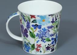 DUNOON SCATTERED FLOWERS Fine Bone China CAIRNGORM Mug #1B