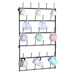 Durable Metal Coffee Mug Rack Wall Mounted Storage Rack Cup