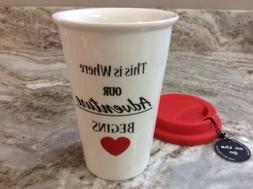 Durable Porcelain Travel Mug. This Is Where Our Adventure Be