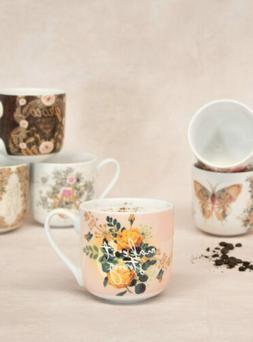 Papaya E8 Art Kitchen Dining 12oz Porcelain Coffee Mug - Cho