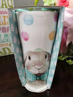 CIROA Easter Parade Bunny Rabbit Jumbo Ceramic Travel /coffe
