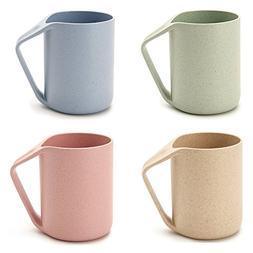 Agile-shop Eco Friendly Healthy Wheat Straw Plastic Mug for