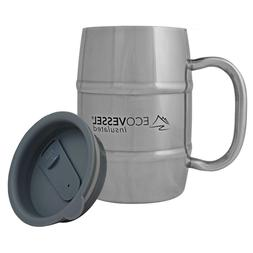 Eco Vessel BARREL Double Wall Insulated Stainless Steel Drin