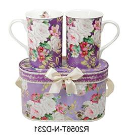 elegant bone china two mugs
