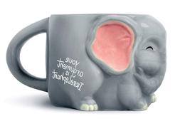 Luckyoo 'Your Argument is Irrelephant' Elephant Ceramic Mug