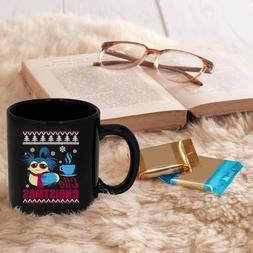 Ello Christmas Mug, Labyrinth Worm Cup, Ugly Christmas Mug
