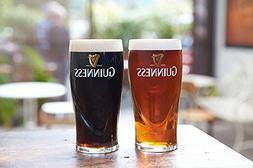 Guinness Gravity 20oz. Embossed Pint Beer Glasses Pair 14K G