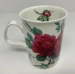English Rose Coffee Tea Mug By Roy Kirkham England Fine Bone