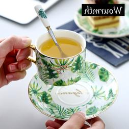 Wourmth European Ceramic Coffee <font><b>cup</b></font> sauc