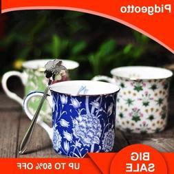 European Creative Flower Pattern Ceramic Coffee <font><b>Mug