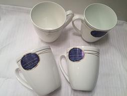 Roscher European Gold Set of 4 Cups Mugs Bone China