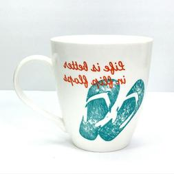 Pfaltzgraff Everyday Life Is Better In Flip Flops Mug Coffee