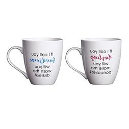 Pfaltzgraff Everyday Mug, Handsome and Darling, 18-Ounce, Se