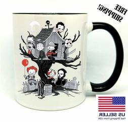 Evil Kids, It, Freddy, Birthday, Christmas Gift, Black Mug 1