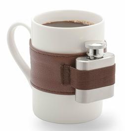 NPW Extra Shot Coffee Mug & Mini Flask Set  -  White Mug Sta