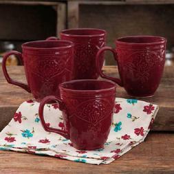 The Pioneer Woman Farmhouse Lace Mug Set 4-Pack Multiple Col
