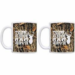 Father's Coffee Mugs Day Hunting Gift Camo Best Buckin' Dad