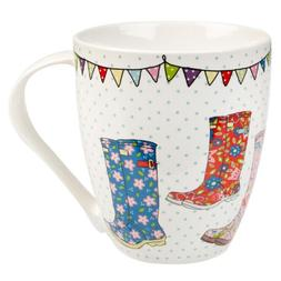 The Caravan Trail Festival Wellies Fine China Crush Shaped M