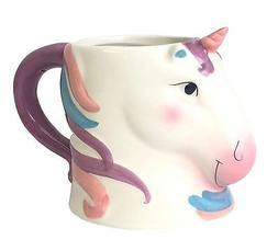 Figural Unicorn Coffee Mug Cup - Pastel Colors - -Ceramic -2